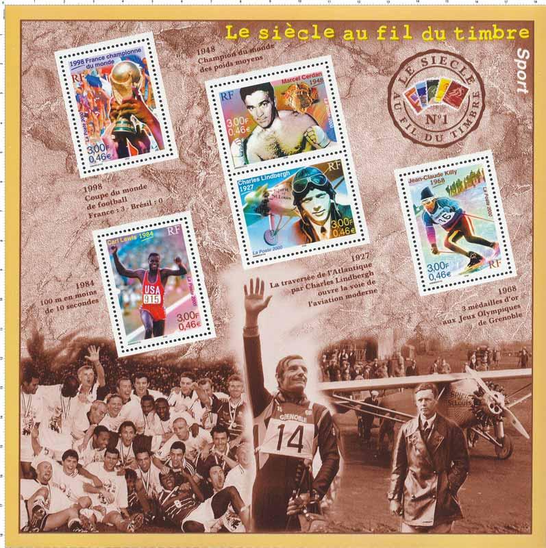 Le siècle au fil du timbre Sport