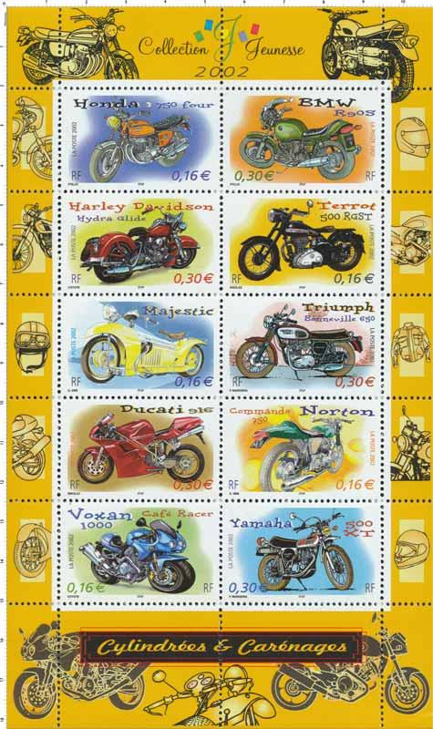 2002 Collection Jeunesse Cylindrées et carénages