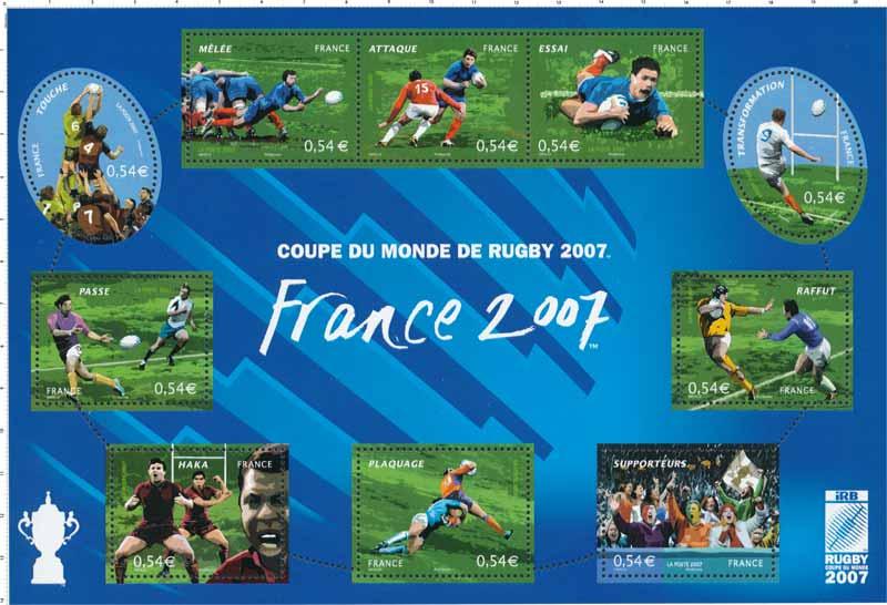 Timbre coupe du monde de rugby 2007 wikitimbres - Classement coupe du monde de rugby ...