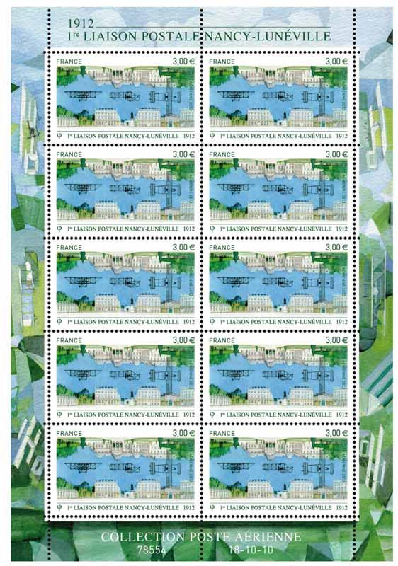 1re liaison postale NANCY-LUNÉVILLE 1912