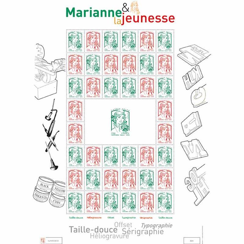 2013 Feuille multitechniques Marianne