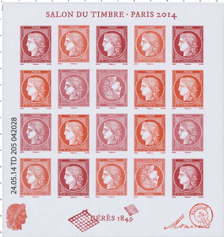 Timbre 2014 salon du timbre paris c r s 1849 for Salon du ce paris