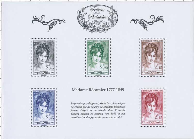 2014 Trésors de la Philatélie MADAME RÉCAMIER 1777-1849