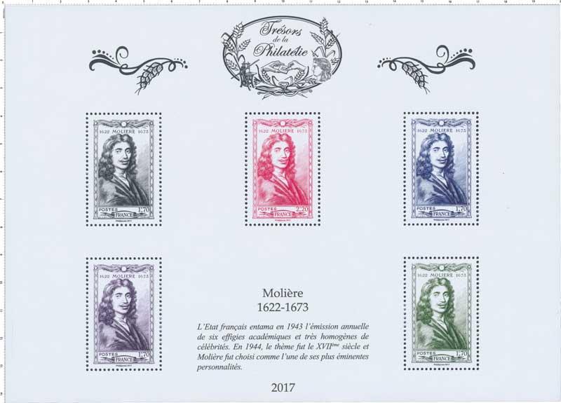 Trésors de la Philatélie 2017 - MOLIÈRE 1622-1673