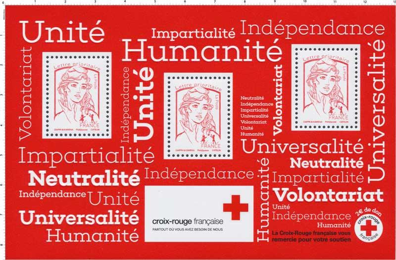 2017  Croix-Rouge française : Neutralité - Indépendance - Impartialité - Universalité - Volontariat - Unité - Humanité
