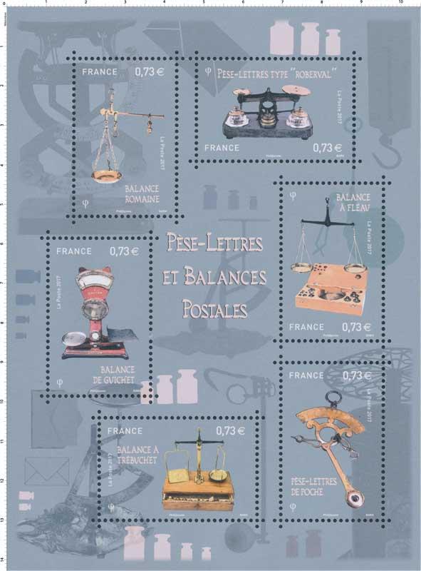 2017 Pèse-lettres et balances postales