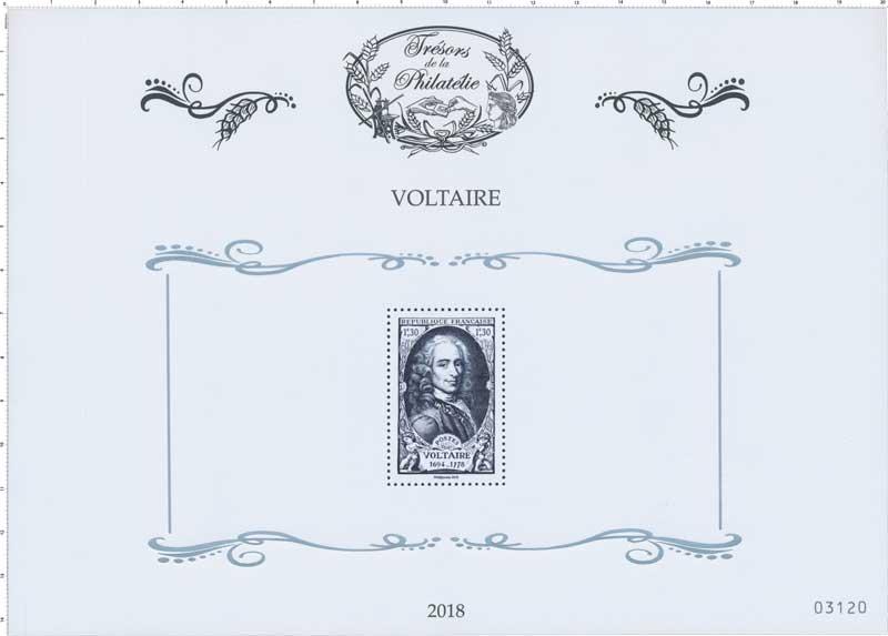 Trésors de la Philatélie 2018 - VOLTAIRE 1694-1778