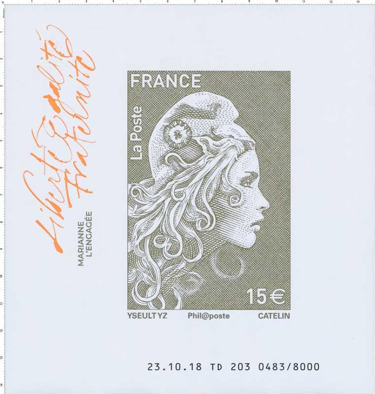 2018 Marianne l'engagée - Liberté Egalité Fraternité