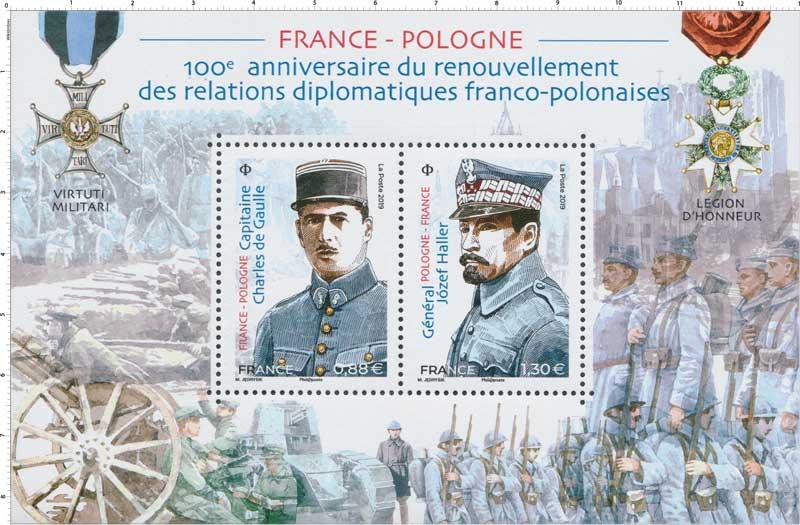 2019 FRANCE- POLOGNE 100e anniversaire du renouvellement des relations diplomatiques franco-polonaises