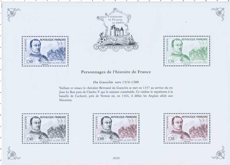 2020 Patrimoine de France - DU GUESCLIN VERS 1314-1380