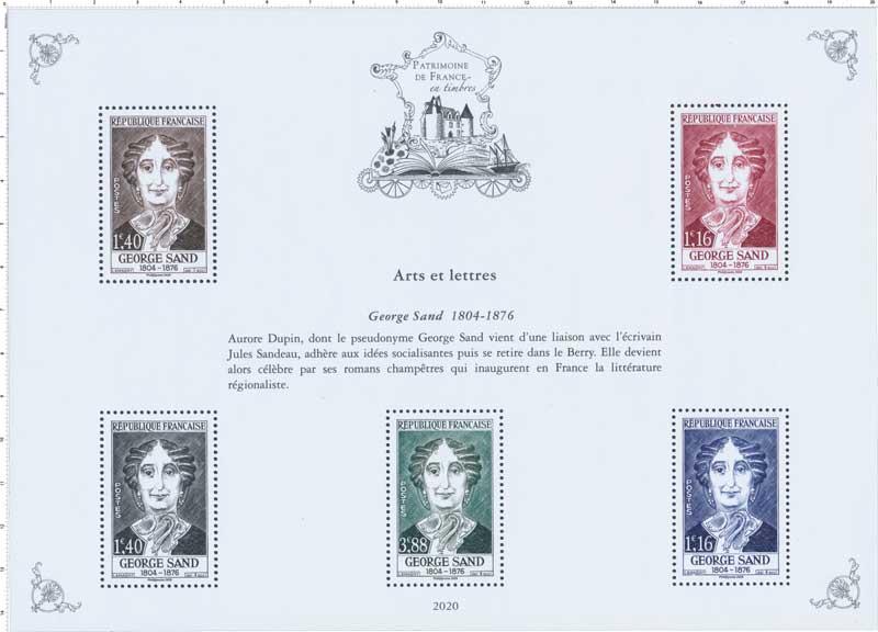 2020 Patrimoine de France - GEORGE SAND 1804-1876