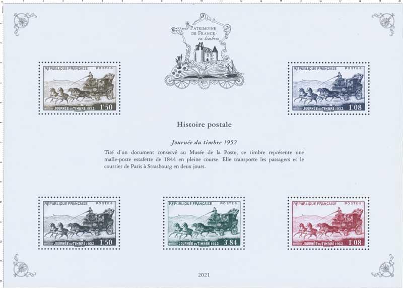 2021 Patrimoine de France - JOURNÉE DU TIMBRE 1952