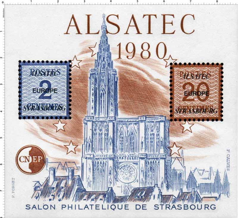 1980 Alsatec Salon philatélique de Strasbourg CNEP