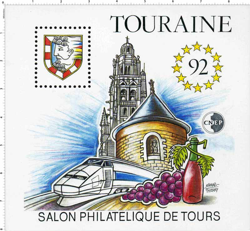 92 Touraine Salon philatélique de Tours CNEP