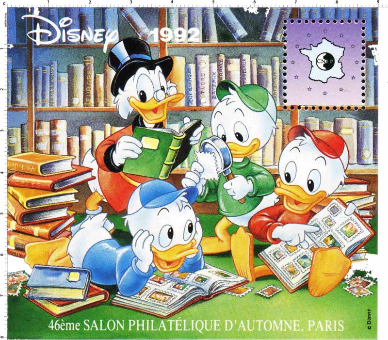 1992 Disney 46e Salon philatélique d'automne Paris CNEP