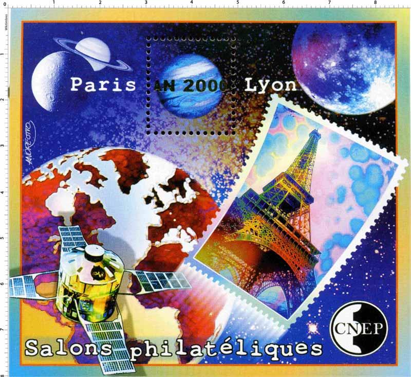 2000 Salons philatéliques Paris An 2000 Lyon CNEP