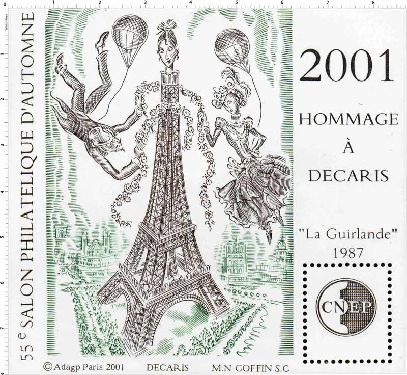2001 55e Salon philatélique d'automne CNEP Hommage à Décaris La Guirlande 1987