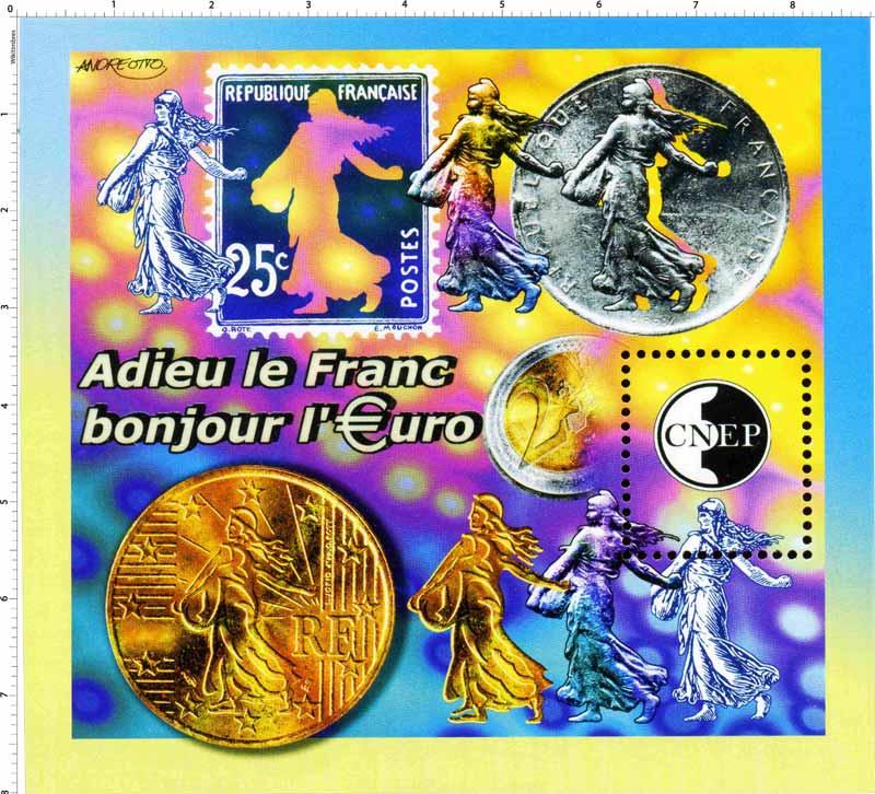 Adieu le Franc bonjour l'Euro CNEP