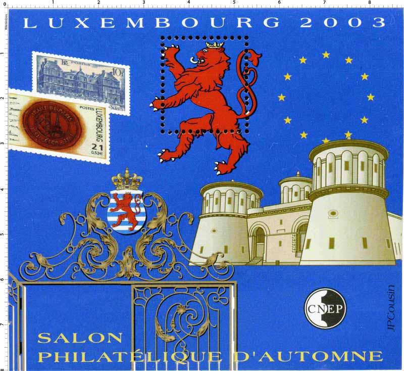 2003 Salon philatélique d'automne Luxembourg CNEP