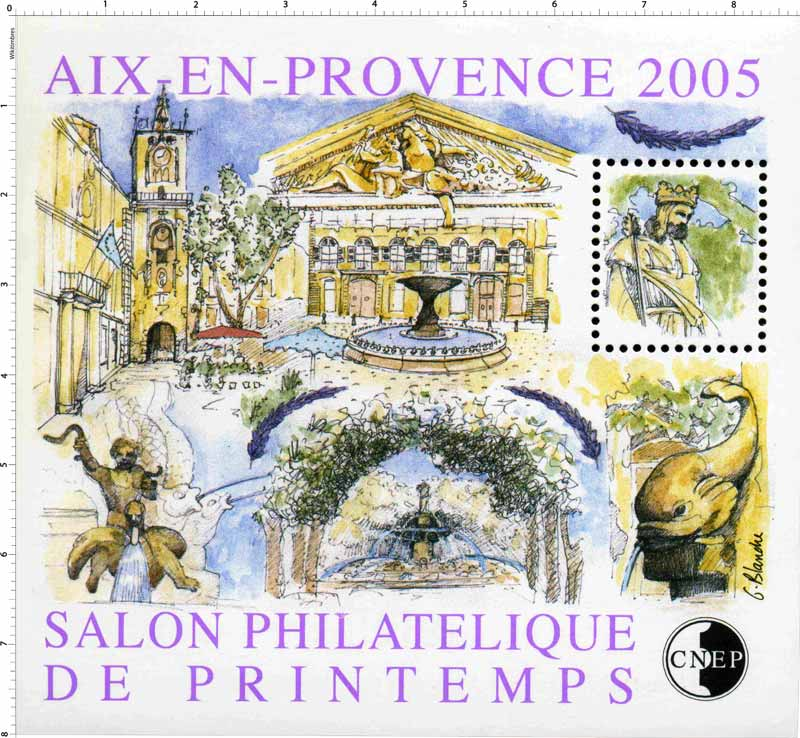 2005 Salon philatélique de printemps Aix-en-Provence CNEP