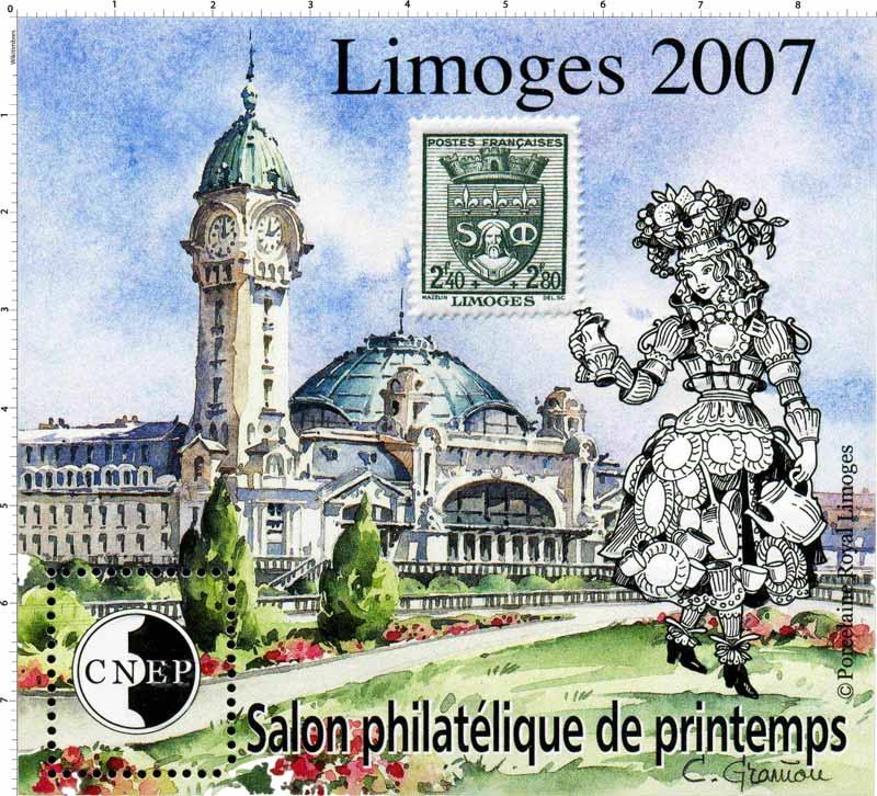 2007 Salon philatélique de printemps Limoges CNEP
