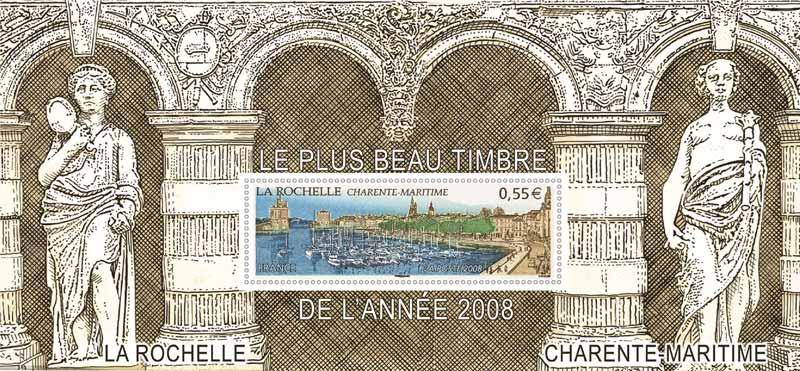 LA ROCHELLE CHARENTE-MARITIME LE PLUS BEAU TIMBRE DE L'ANNÉE 2008