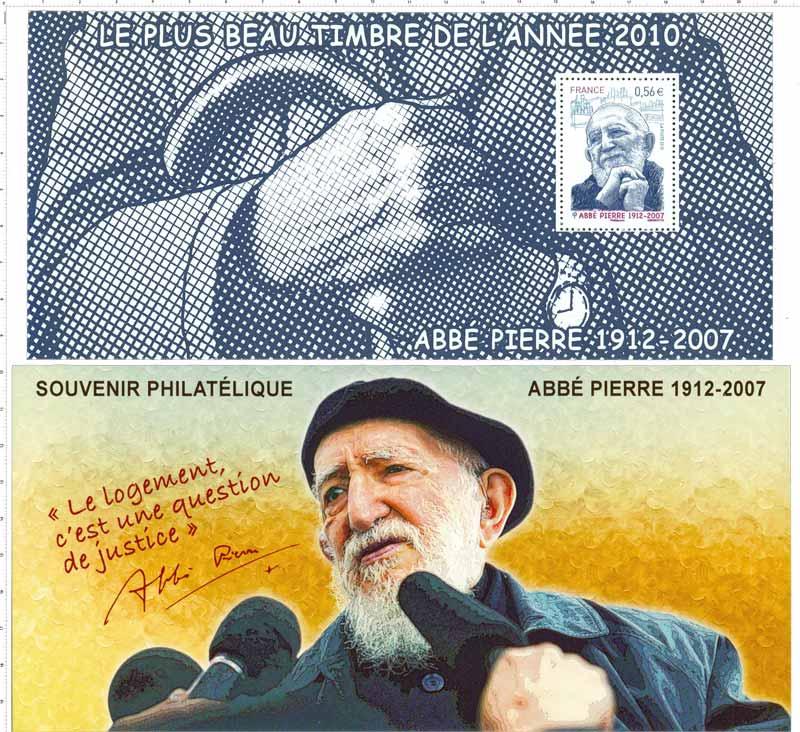 Souvenir philatélique Abbé Pierre 1912 - 2007