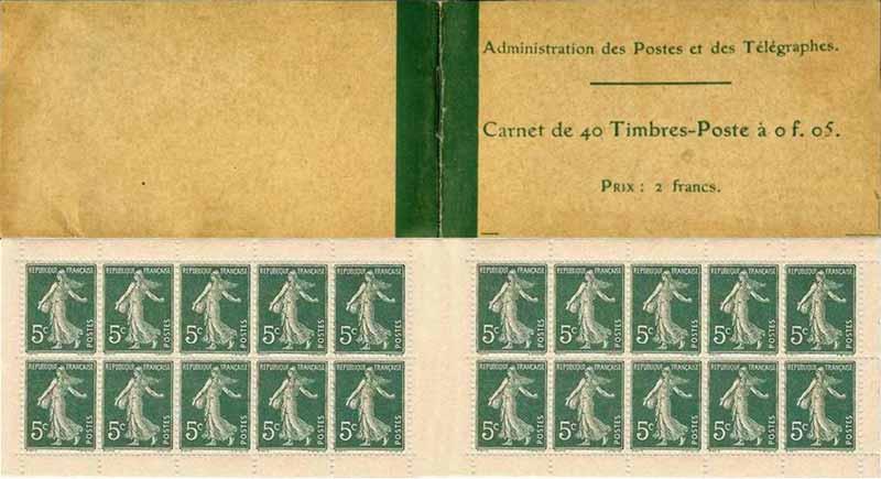 Administration des Postes et des télégraphes Carnet de 40 Timbres-Poste