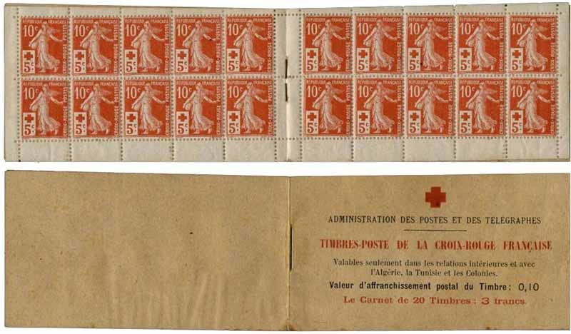 Administration des Postes et des télégraphes Timbres-Poste de la CROIX-ROUGE FRANCAISE