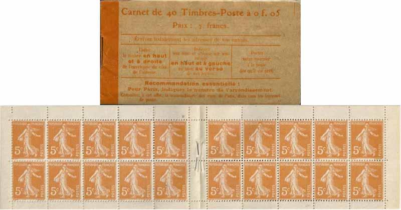 Carnet de 40 Timbres-Poste