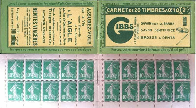 Carnet de 20 Timbres-Poste