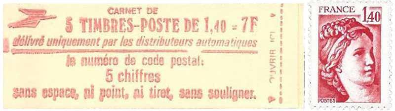 Le numéro de code postal : 5 chiffres, sans espace, ni point, ni tiret, sans souligner