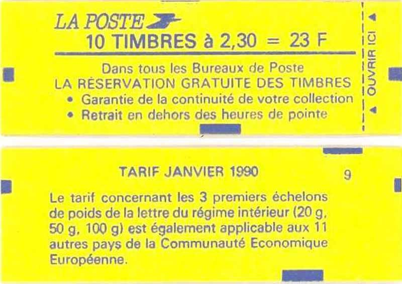 Réservation gratuite de timbres