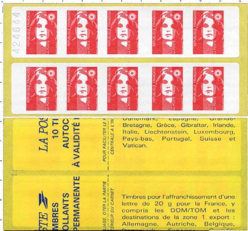 Les timbres autocollants à validité permanente