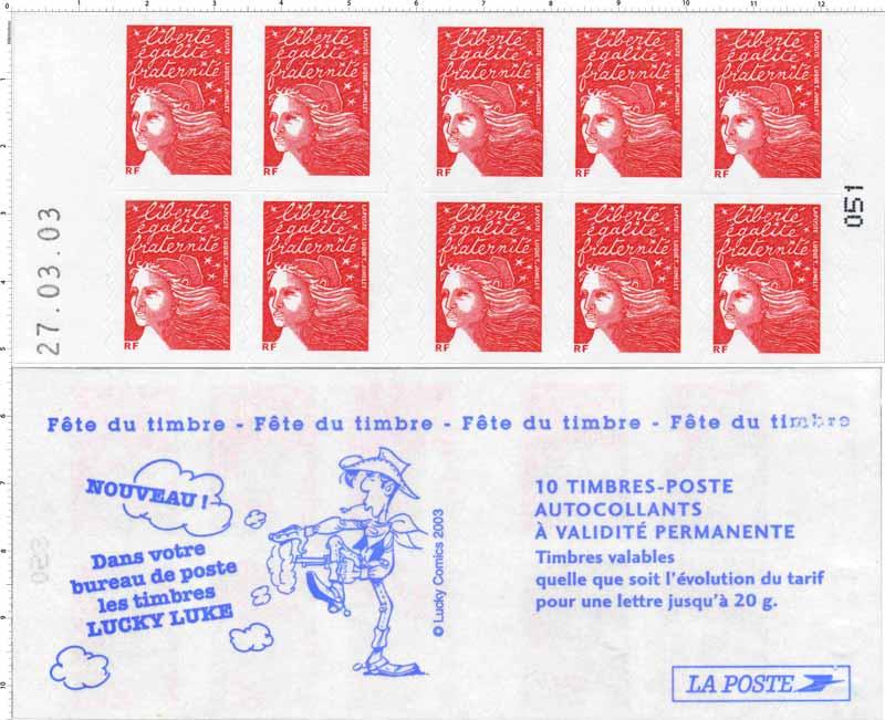 fête du timbre Lucky Luke