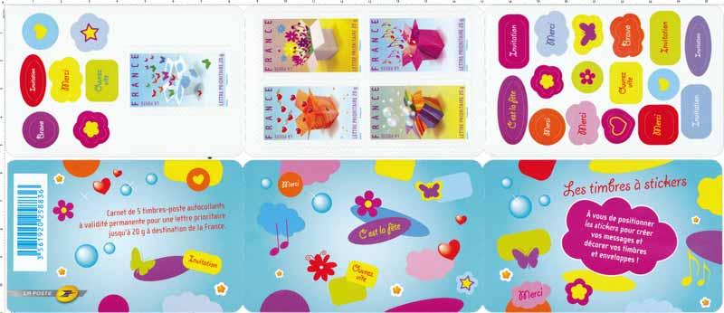 Les timbres à stickers