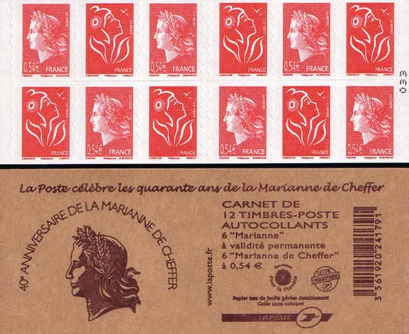 2007 La Poste célèbre les quarante ans de la Marianne de Cheffer
