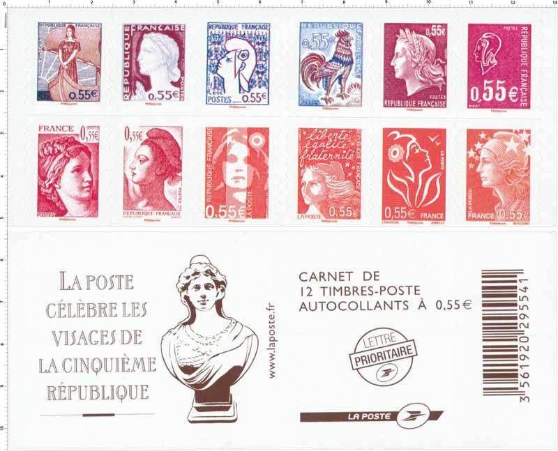2008 La Poste célèbre les visages de la cinquième république