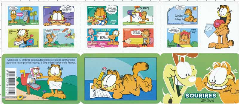 Carnet sourires : Garfield