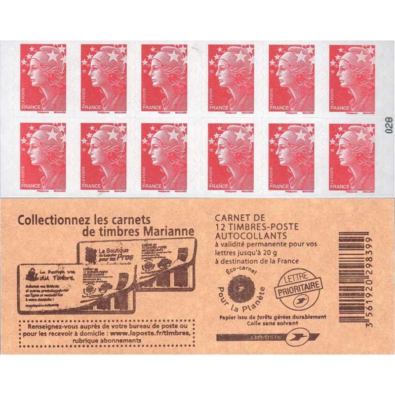 Collectionnez le carnets de timbres Marianne
