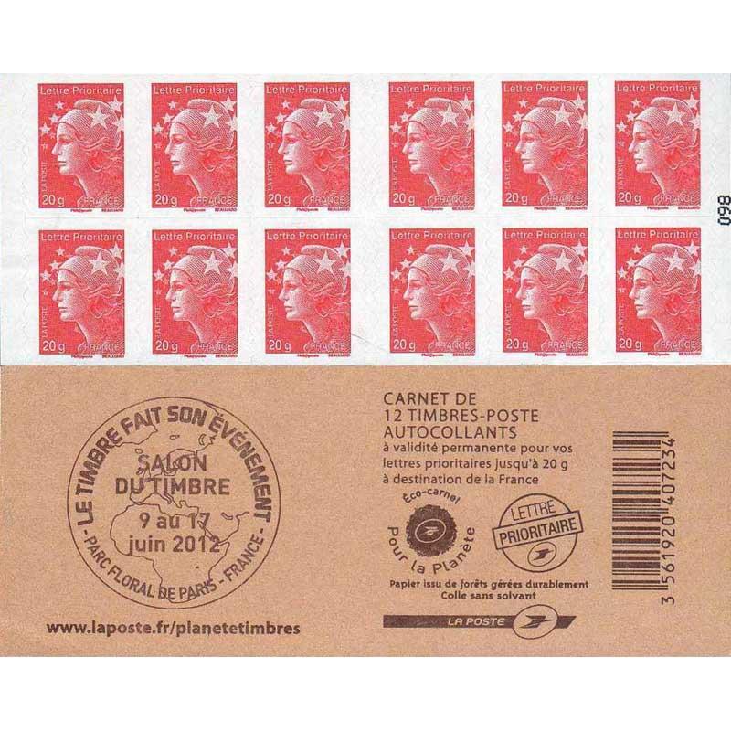 """Carnet Marianne et l'Europe - Couv. """"Salon du timbre"""""""