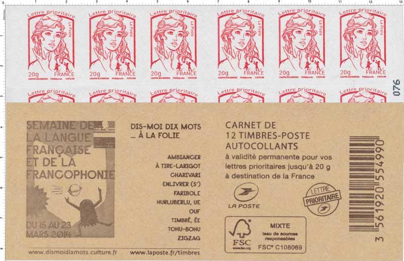 Carnet semaine de la langue française et de la francophonie du 15 au 23 mars 2014