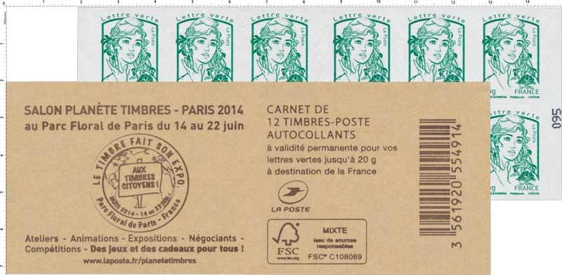 Carnet Salon planète timbres au Parc Floral de Paris du 14 au 22 juin 2014