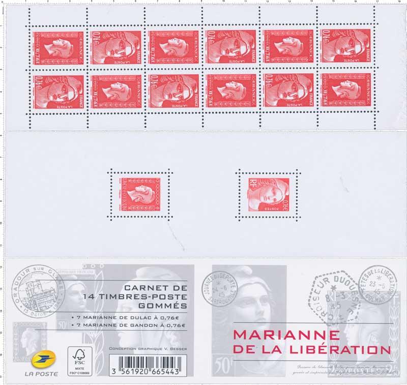 2015 Carnet  Marianne de la Libération