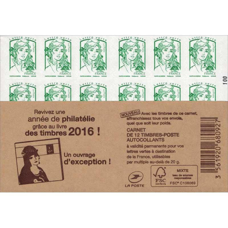 2016 Revivez une année de philatélie grâce au livre des timbres 2016