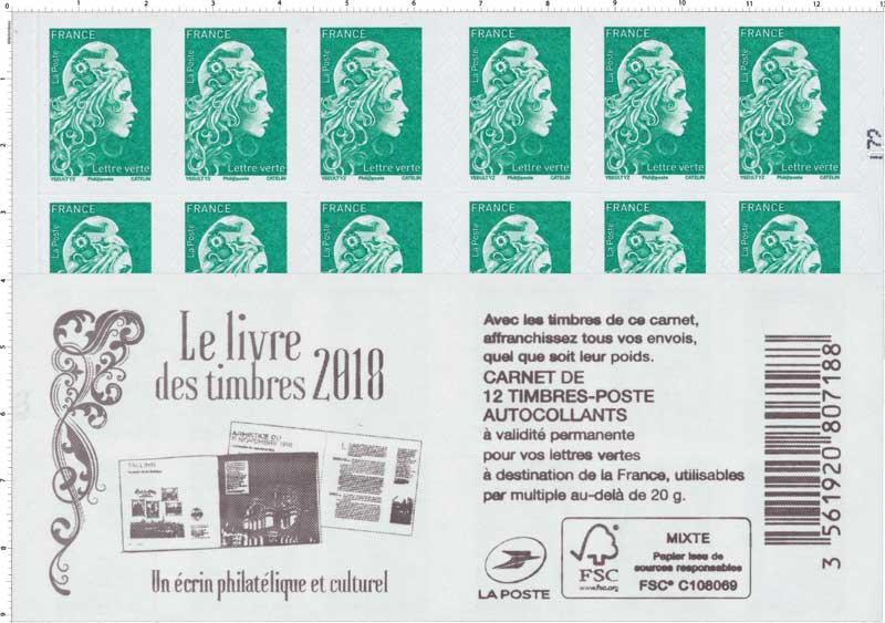 2018 Le livre des timbres 2018