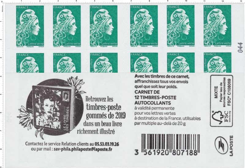 2019 Retrouvez les timbres-poste gommées de 2019 dans un beau livre richement illustrés