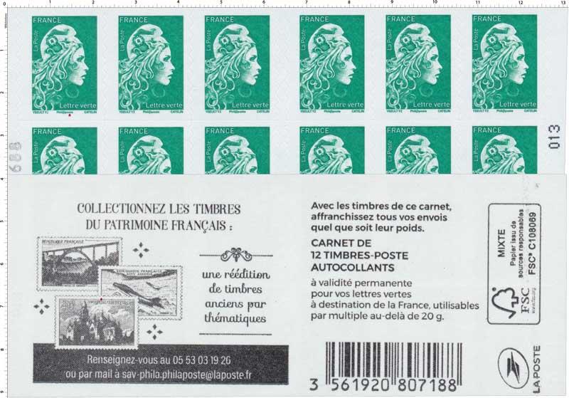 2019 Collectionnez les timbres du patrimoine français