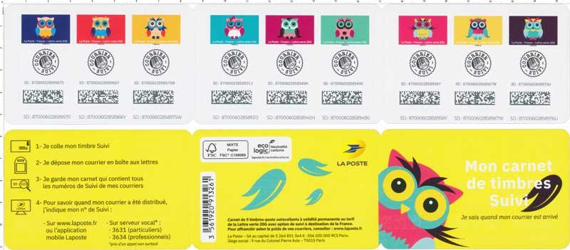 2020 Mon carnet de timbres suivi