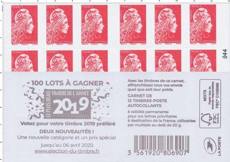 2020  100 Lots à gagner - Voter pour votre timbre 2019 préféré